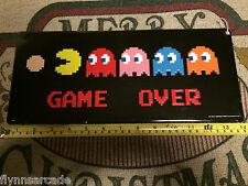 PAC MAN GAME OVER ARCADE GAME METAL SIGN VINTAGE LOK VIDEO PINBALL AMUSEMENT