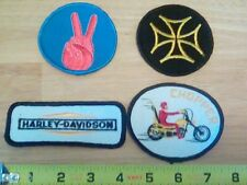 Set of 4 Vintage motorcycle patches chopper harley davidson maltese peace