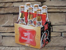 Miller High Life Beer Die Cut Embossed Metal Vintage Style Man Cave Bar Pub Cafe