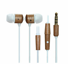Dtaitech natural wooden earbuds stereo earphones with mic gift for cellphone 075