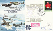 AC20a 40th Anniv VJ Day Signed  G R Piper Spitfire Pilot 273 Sqn Rangoon 1945