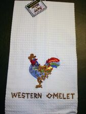 WESTERN OMELET~DISH TOWEL~ROOSTER ~POULTRY IN MOTION~SHARON NEUHAUS