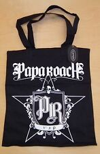 "NWT Papa Roach Rock Band TOTE BAG PURSE VIP TOUR PACKAGE 13.5"" x 14.5"" New"
