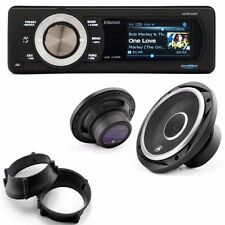 "Aquatic AV Bluetooth Stereo LCD kit w/ Premium 6.5""  Speakers 98-13 Harley FLTR"