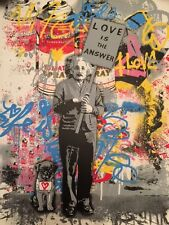 MR BRAINWASH - LOVE IS THE ANSWER - SIGNED - NUMBERED - MBW - ALBERT EINSTEIN !!