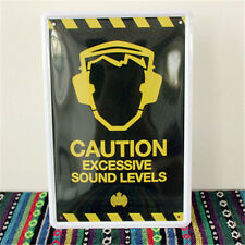 METAL TIN SIGN ART Caution Excessive Sound Levels Warning Message Music 314