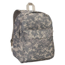 Classic Basic Large Student Backpack Bag Black Red Blue White Camo Pink Khaki