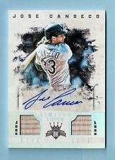 JOSE CANSECO 2016 DIMAOND KINGS LIMITED LITHOS GAME USED BAT AUTOGRAPH AUTO /99