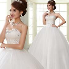 Strapless Sequined Princess Wedding Dresses Brief Bridal Gowns Vestido De Noiva