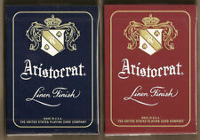 "2 Aristocrat 727 ""Banknote"" Playing Cards Red & Blue with new Magic Finish!"