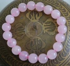 ROSE QUARTZ BRACELET / NATURAL AAA+ QUALITY ROSE QUARTZ STONE BRACELET
