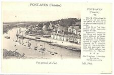 CPA 29 - PONT AVEN (Finistère) - Vue générale du Port - ND Phot - descirptif