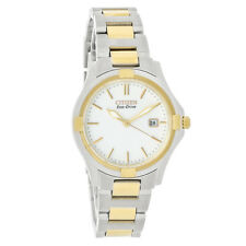 Citizen Silhouette Eco-Drive Ladies White Dial Two Tone Watch EW1964-58A