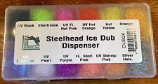 """STEELHEAD"" ICE DUB DISPENSER - HARELINE DUBBIN. 12 COLORS. DUBBING. FLY TYING"