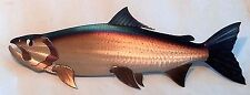Metal Salmon/Chinook/King,Spring,Fish,Fishing,Cabin.Lodge,Art,Wall,Home decor,