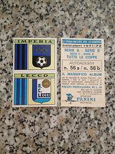 SCUDETTO IMPERIA LECCO N. 56 album CALCIATORI PANINI 1971-72 NUOVO VELINA