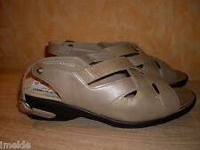 Solidus Sandalette NEU Gr. 8,5 42,5 K in platinfarben Lack & Nappa Leder
