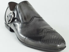 New 2014 Cesare Paciotti  Gray Patent Leather Shoes UK 6 US 7