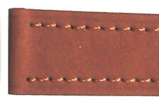 Light Brown 18mm Genuine Leather Strap With Chrome Buckle