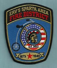 ERV'S SPARTA AREA WISCONSIN FIRE DEPARTMENT PATCH