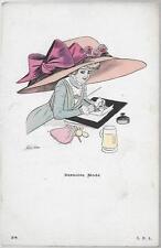 XAVIER SAGER - Dernière mode - S.R.A. 54 - Pochoir Chapeau géant #21