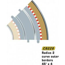 Scalextric C8228 Radius 2 Curve Outer Borders 45 deg 1:32 Scale Accessory (PL)