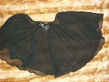 Jacques Moret Dance Skirt Girls Size Large  (10/12) Black Sheer w/Bow
