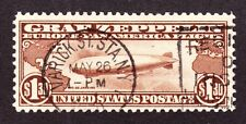 US C14 $1.30 Airmail Used VF SCV $375