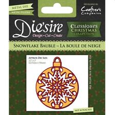 DIE'SIRE CLASSIQUES CHRISTMAS SNOWFLAKE BAUBLE CUTTING DIE - NEW UNIVERSAL FIT