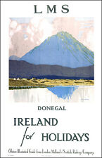 Donegal Ireland For Holidays LMS Travel Art Poster High Quality Wall Art Print