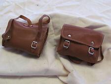 Accesorios de muñecas muñecas maleta knabenform cuero genuino. color cognac. a mano.
