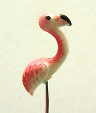 1:12 Single Pink Ceramic Flamingo Bird Dolls House Miniature Garden Accessory F1