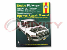 Dodge Ram 1500 Haynes Repair Manual Laramie Base ST WS Sport Shop Service eq