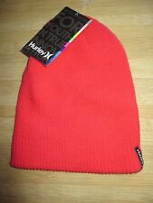 NEW* HURLEY BEANIE Cap HAT MENS OSFA S M L Shipshape Coral Pink