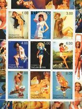 NUDE NAKED SEXY LADY EROTIC ART POSES FRITZ WILLIS ETC MNH STAMP SHEETLET 2000