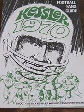 Football Fans Guide Kessler 1970 book