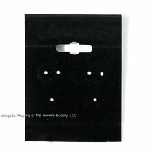 "2000 Black Hanging Earring Cards 2""H x 1 1/2""W Jewelry Display with Lip"