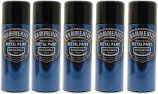 Hammerite 400ml  Hammered Black Metal Spray Paint 5 Cans