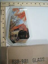 FREE US SHIP ok touch lamp replacement glass panel set Covered Bridge Fall