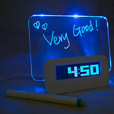 Digital Backlight LED Display Table Alarm Clock Thermometer Calendar Night Light