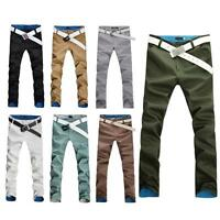 Hot New Fashion Design Korean Style Men's Slim Fit Casual Skinny Trousers Pants