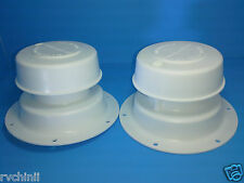 4 Roof Vent Caps for RV, Motorhome, Camper or Trailer,  Replacement Brand New.