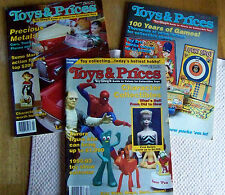 3 ISSUES OF TOYS AND PRICES MAGAZINE. TOY SHOP'S GUIDE TO COLLECTIBLES  (4321)