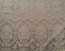 OLD WORLD WEAVERS Silk Damask large scale woven tawny brown new 2+ yards