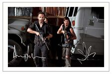 ANDREW LINCOLN + NORMAN REEDUS THE WALKING DEAD SEASON 5 SIGNED PHOTO PRINT