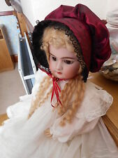 "ANTIQUE.VINT DOLLS ABSOLUTELY BEAUTIFUL  VICTORIAN STYLE BONNETS 18"" TO 28"""