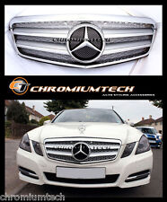 2009-2012 Mercedes W212 NEW E Class SILVER CHROME Grill E63 AMG Saloon or Estate