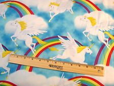 Cloud Prancers BY Michael Miller Pegasus Unicorn Fabric