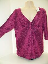 NWT Lane Bryant 18 20 Plus Shirt top blouse Purple $44.95 036701