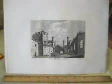 Vintage Print,CONWAY CASTLE,Pl2,Grose's Antiquities England,c1790